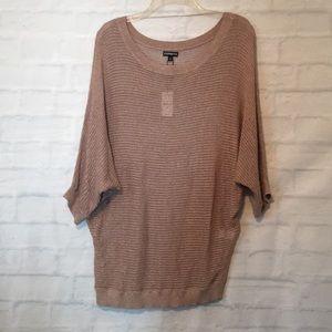 Express blush color dolman sleeve knit top blouse